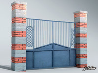 3d model gate italian structures