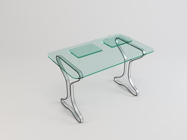 3d glass table 05 model