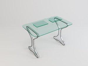 3d glass table 05 model