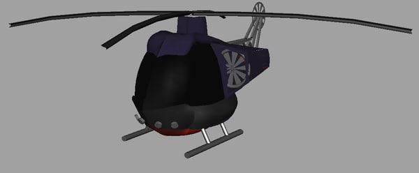 free murphy brothers helicopter 3d model