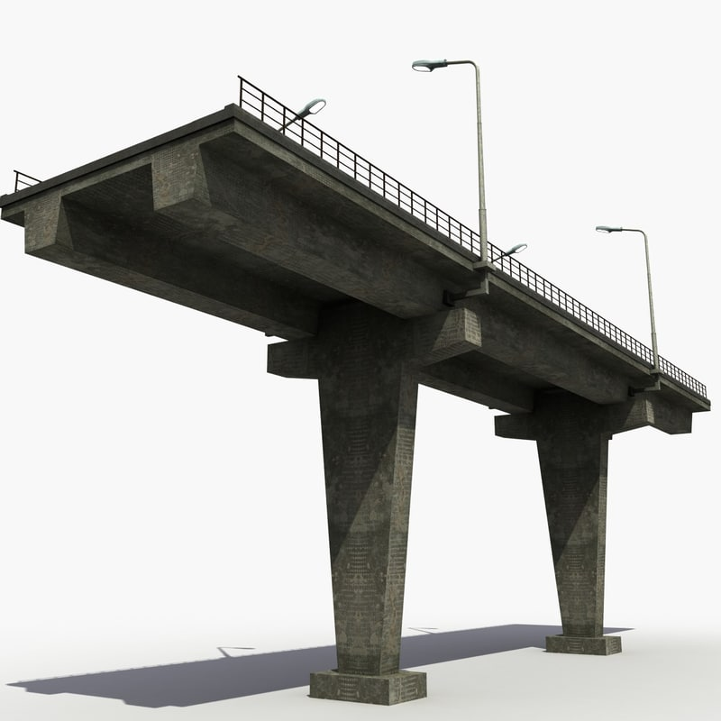 highway bridge 3d model