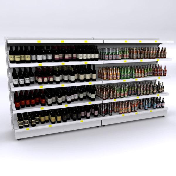 shelves wines beers max