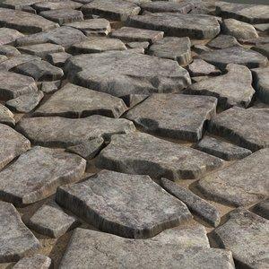 paving stones 08 3d max