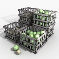 3d model fruit bins