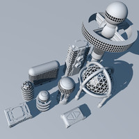 SciFi Futuristic Building Set