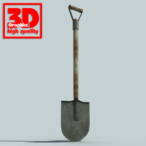 shovel modelled 3d max