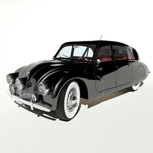 1947 tatra t87 3d model