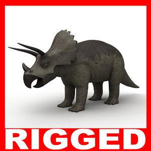3d model triceratops dinosaur rigged