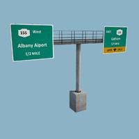 overhead gantry sign 3d ma