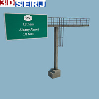 overhead gantry sign 3d 3ds