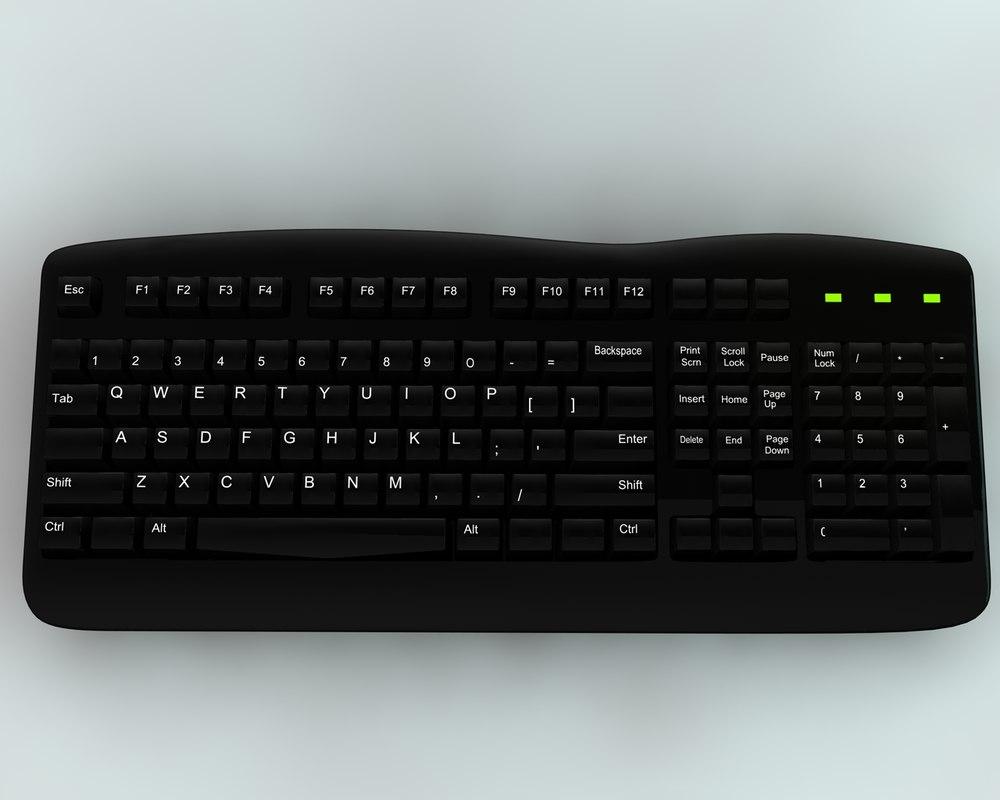 3d model key keyboa