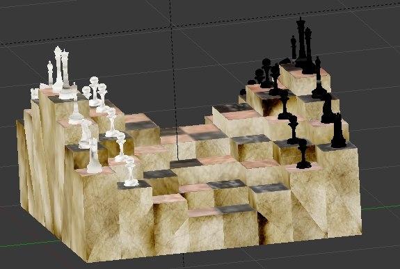 3d 3ds chess set