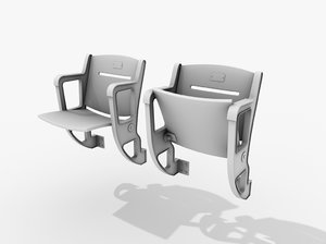 stadium seating chair 3d 3ds