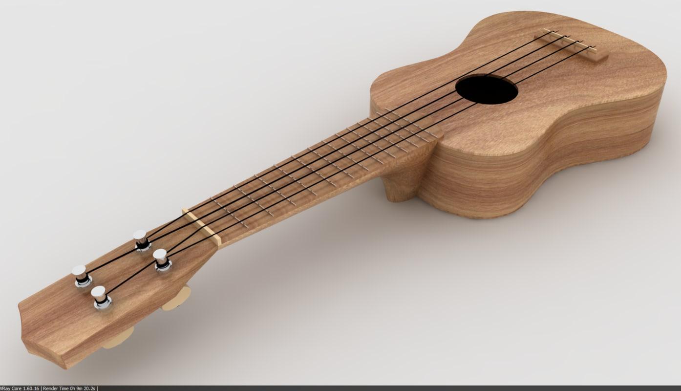 ukulele 3d 3dm