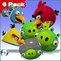 6 Pack: Angry Birds and Pigs