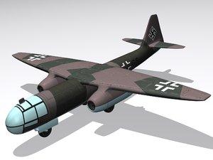 3d model german bomber
