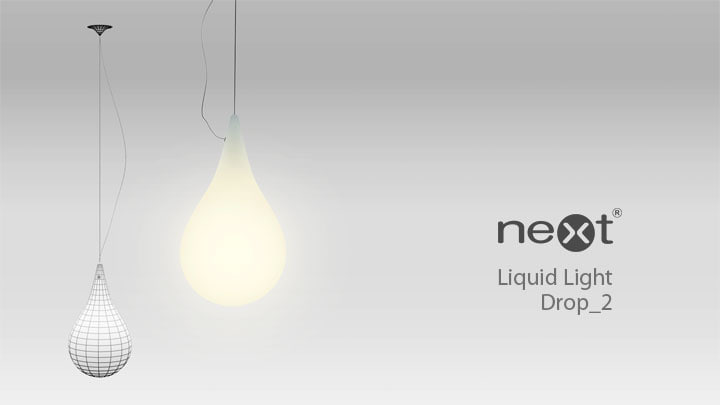 3d model liquid light drop 2