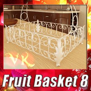 3d model fruit basket