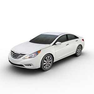 3d model hyundai sonata 2011