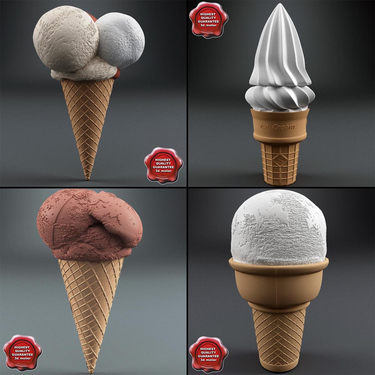 3d model ice cream v1