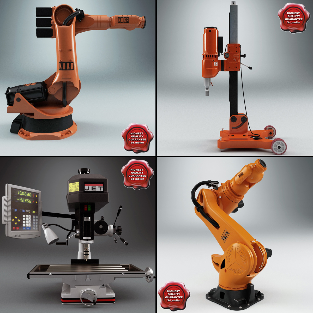 3ds max industrial machines