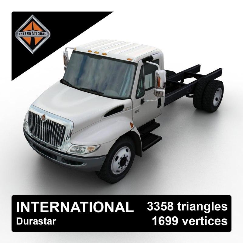 3d model international durastar truck chassis