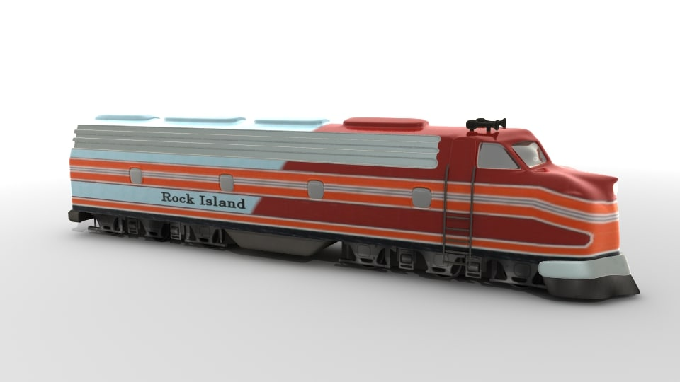 3d model locomotive train engine