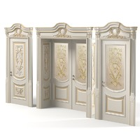 Newdesignporte Luigi VXI Luxury Classic baroque carved door double glass  door
