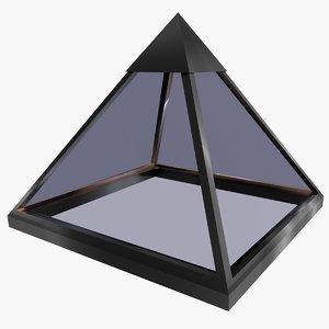 3d pyramid roof model