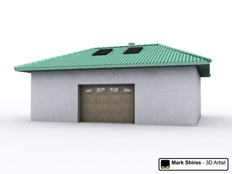 3d building garage model