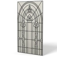 stained glass classic 3d model