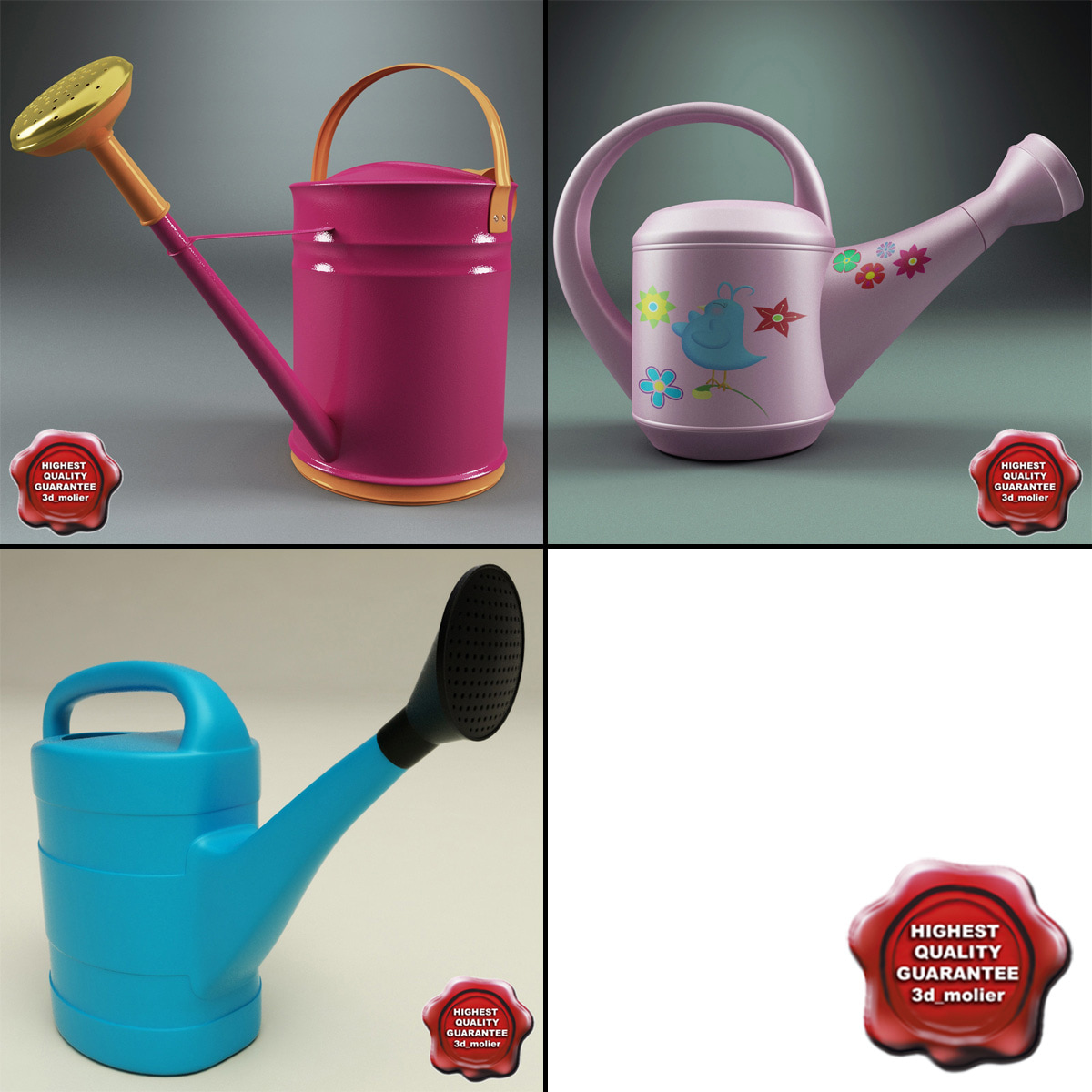 watering cans 3d model