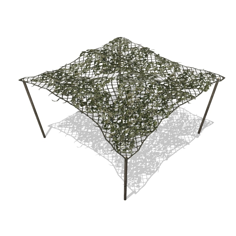 camouflage net 3d max