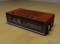 3d alarm clock radio
