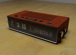 3d alarm clock radio