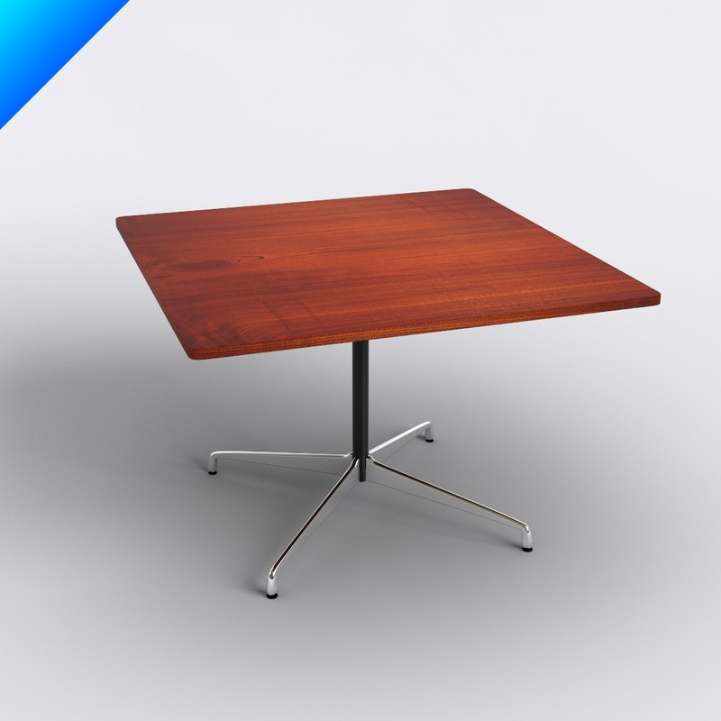 charles eames table 3d 3ds