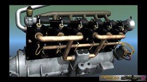 mercedes d engine ww1 lwo