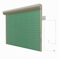 3d model remote roller garage door