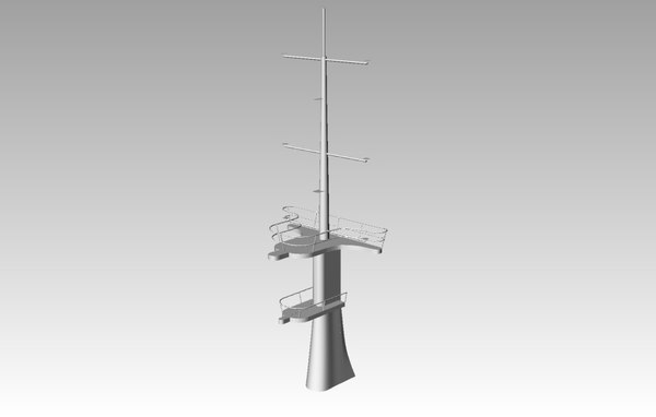 ship aft mast 3d model
