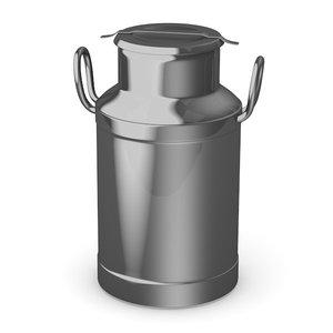 milk barrel 3d 3ds
