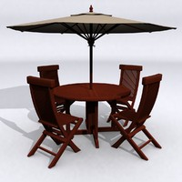 Teak Patio Table Set