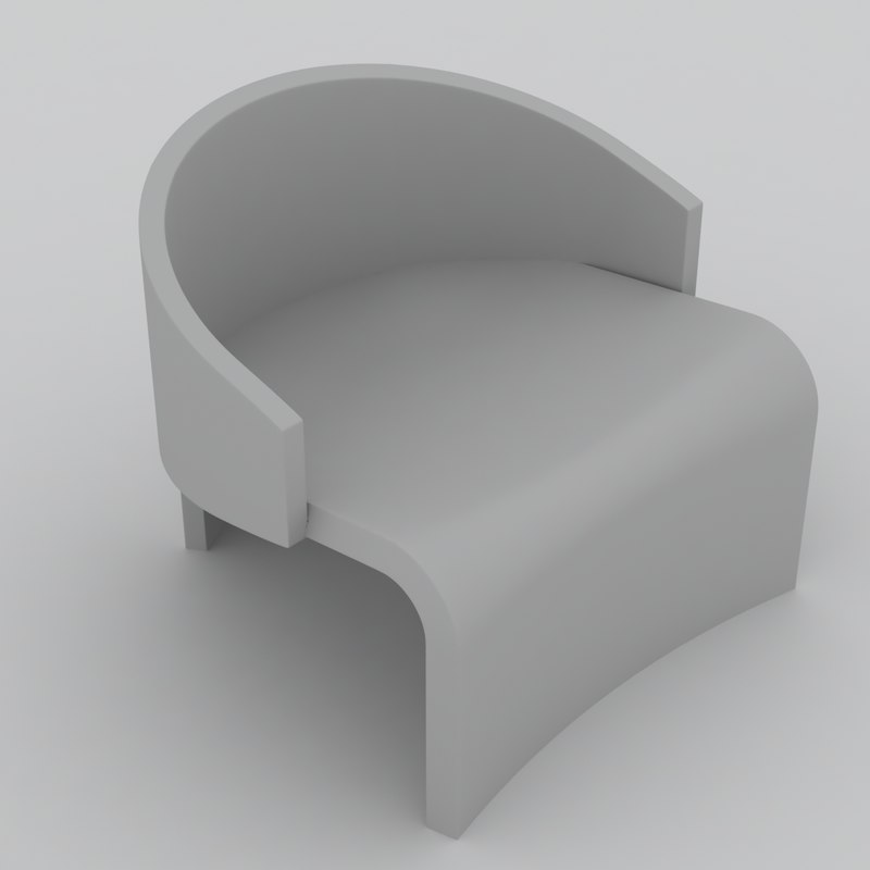 3ds max fabric chair