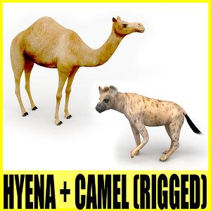 rigged hyena camel animation 3d model