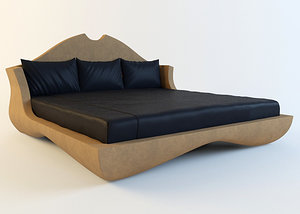 3d model bed turri pegaso