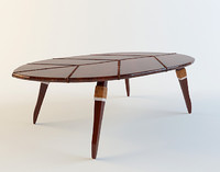 Coffee table Zulut Pacific Green