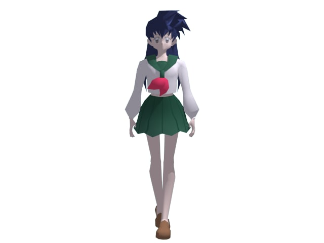 3d model kagome anime inuyasha