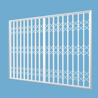 lattice retractable security gate 3d model