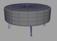 3dsmax leather stool