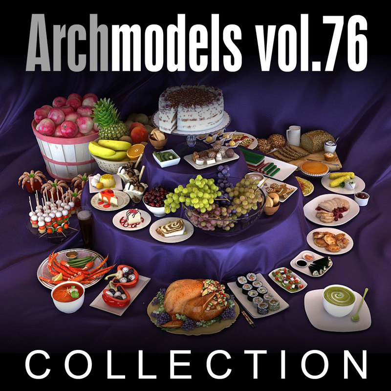 archmodels vol 76 food 3d model