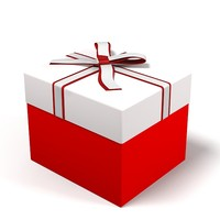Gift box christmas toy present